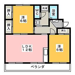 コスモビレッジIII[1階]の間取り