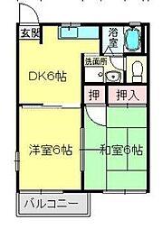 宮崎県宮崎市大字芳士の賃貸アパートの間取り