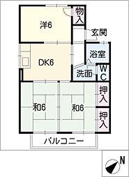 セジュール四ッ谷[1階]の間取り