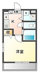 スカーラ津田沼[1階]の間取り
