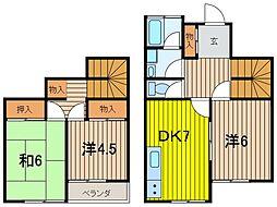 [テラスハウス] 埼玉県さいたま市浦和区岸町4丁目 の賃貸【埼玉県 / さいたま市浦和区】の間取り