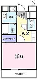 ウナ・カーサ[202号室]の間取り
