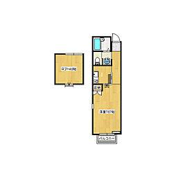 Maison Ai(藍)[2階]の間取り