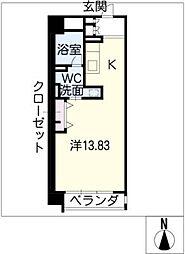 レジディア東桜II(東向)[9階]の間取り
