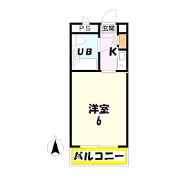 アレーズ竹の塚[104号室]の間取り