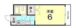グレース紫竹[305号室]の間取り