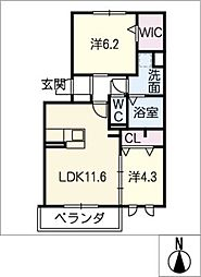 仮)D−room豊山[3階]の間取り
