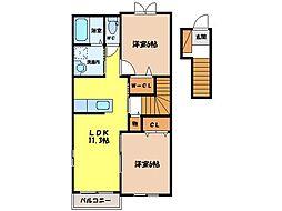 poireII[2階]の間取り