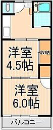 コーポムラコシ[7号室]の間取り