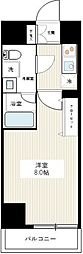 東京メトロ日比谷線 北千住駅 徒歩17分の賃貸マンション 3階1Kの間取り