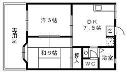 アビタシオンMIWA[1階]の間取り