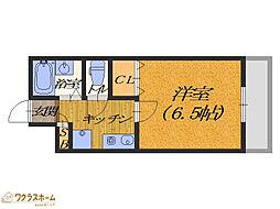大阪府堺市北区東雲東町3丁の賃貸マンションの間取り