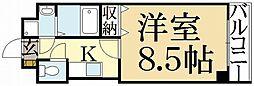 PINE館3[4階]の間取り