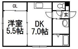 ジュネス東札幌[302号室]の間取り