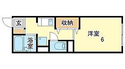 メゾン澤田F棟[201号室]の間取り