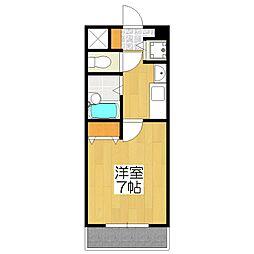 プレサンス京都神宮道[3階]の間取り