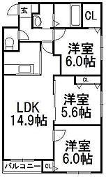北海道札幌市中央区南十二条西13丁目の賃貸マンションの間取り