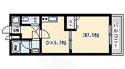 泉北高速鉄道 泉ヶ丘駅 徒歩16分の賃貸アパート 2階1DKの間取り