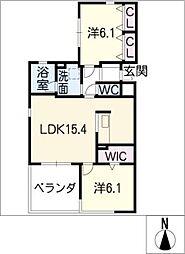 レジデンス プルメリア[3階]の間取り