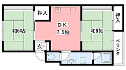 野田マンション[301号室]の間取り