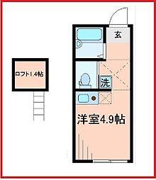 東京都足立区梅田6の賃貸アパートの間取り