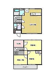 [テラスハウス] 神奈川県茅ヶ崎市中海岸1丁目 の賃貸【/】の間取り