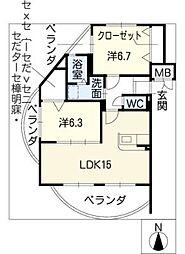 ANSER[5階]の間取り