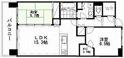 新潟県新潟市中央区万代3丁目の賃貸マンションの間取り