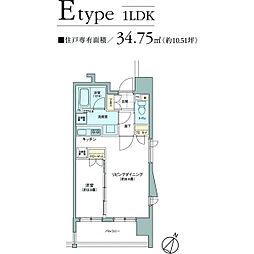 パークアクシス六本松[5階]の間取り