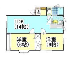 POSH HOUSE II[202号室号室]の間取り