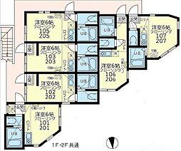 ユナイト和田町ピートダイ[2階]の間取り