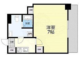 阪神本線 福島駅 徒歩2分の賃貸マンション 6階1Kの間取り