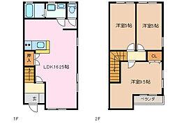 [テラスハウス] 三重県四日市市浜一色町 の賃貸【/】の間取り