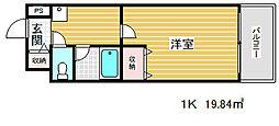 ブルーム神戸三宮[3階]の間取り