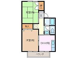 セジュール富田 A棟[1階]の間取り