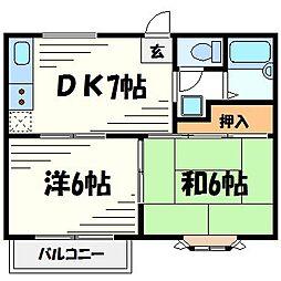 コーポ広田[2階]の間取り