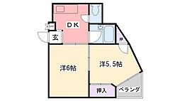 ELLE甲子園[101号室]の間取り