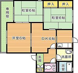 福岡県北九州市八幡西区光貞台1丁目の賃貸アパートの間取り