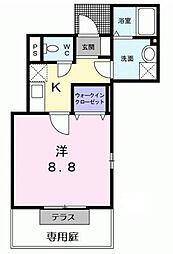 東京都中野区江古田4丁目の賃貸アパートの間取り