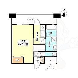 Osaka Metro御堂筋線 江坂駅 徒歩4分の賃貸マンション 6階1Kの間取り