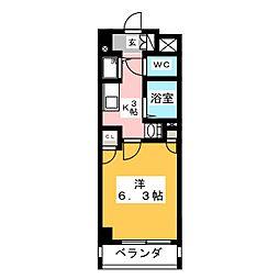パルティール鶴舞[4階]の間取り