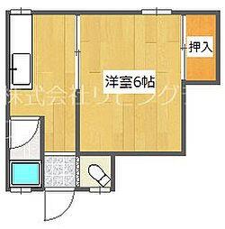 大阪府堺市堺区戎之町西2丁の賃貸アパートの間取り