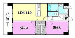 永田小坂ビル[202 号室号室]の間取り