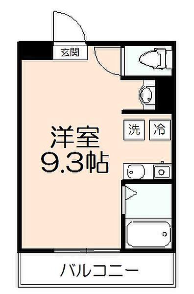 東京都多摩市東寺方1丁目の賃貸アパートの間取り
