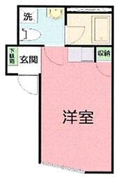 OYO LIFE #3134 DEN東小倉 2階ワンルームの間取り