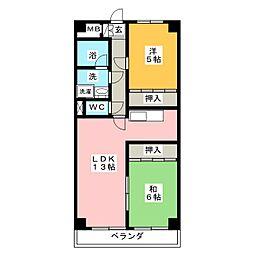クレスト三郷[8階]の間取り