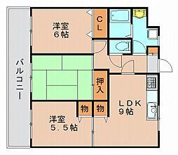 葉山マンション2[6階]の間取り