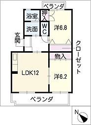 スウィート ミヤコ[3階]の間取り