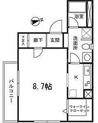 ロータス・アリー弘明寺[3階]の間取り