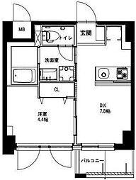 (仮称)平和島・斎藤マンション 3階1DKの間取り